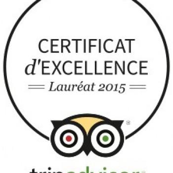 Certificta d'Excellence TripAdvisor