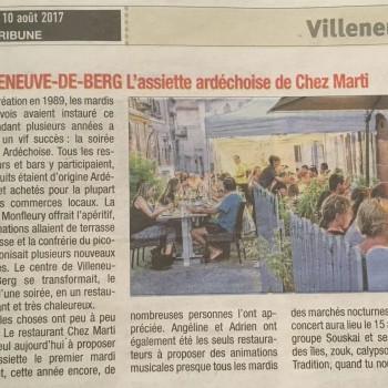 La Tribune du 10 Aout 2017