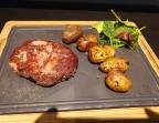 Photo Noix d'entrecôte Black Angus Pommes sautées et salade - Ô BISTROT