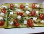 Photo Carpaccio de courgettes à la feta et coriandre (Végétarien) - Ô BISTROT
