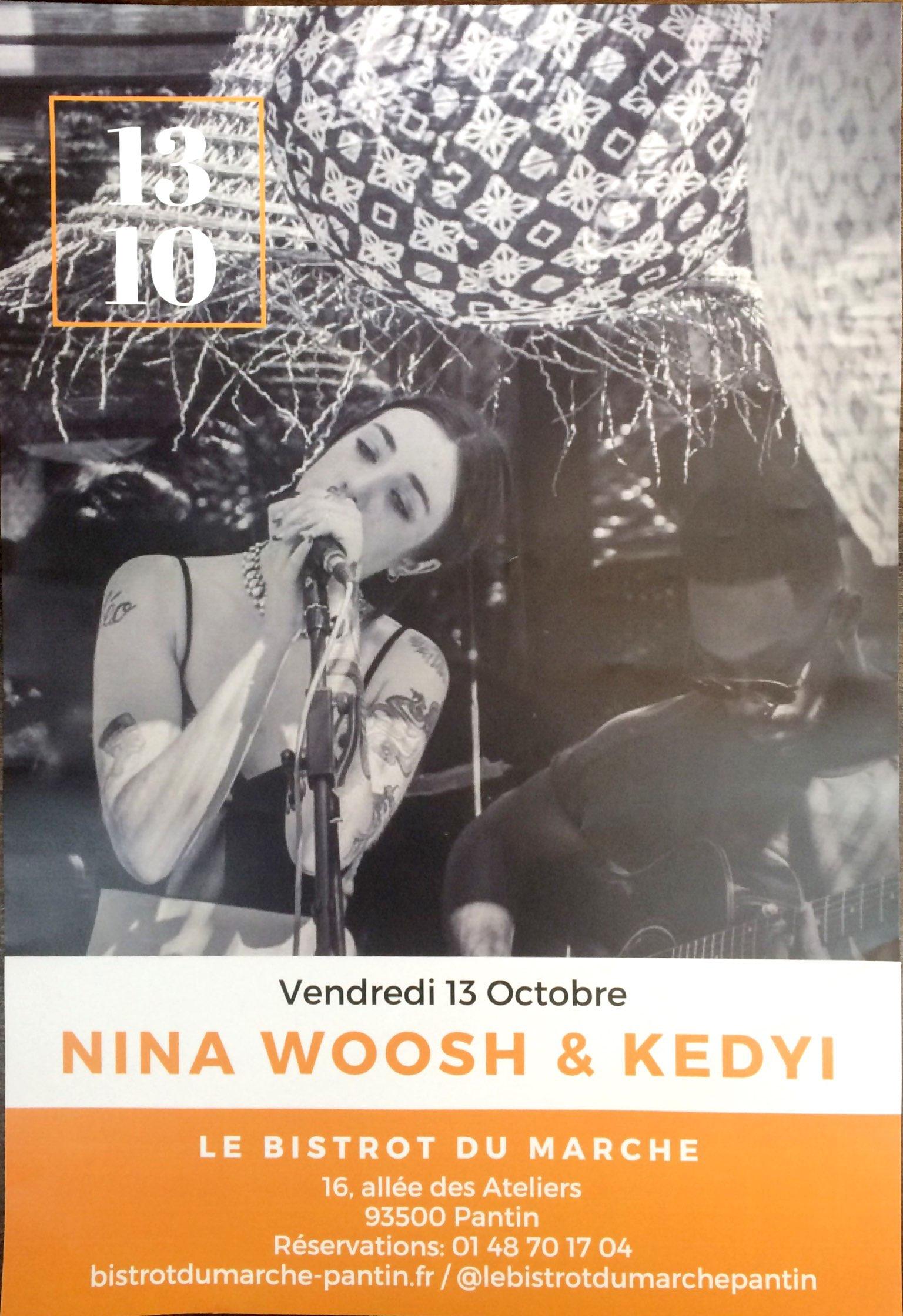 Concert Nina Woosh & Kedyi