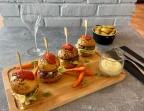 Photo Mini burger de bœuf parfumé au parfum de truffe - Restaurant LA VÉRANDA