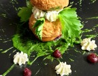 Photo Religieuse salée  Crème de Sainte-Maure frais, ciboulette, Wasabi - L'Escapade
