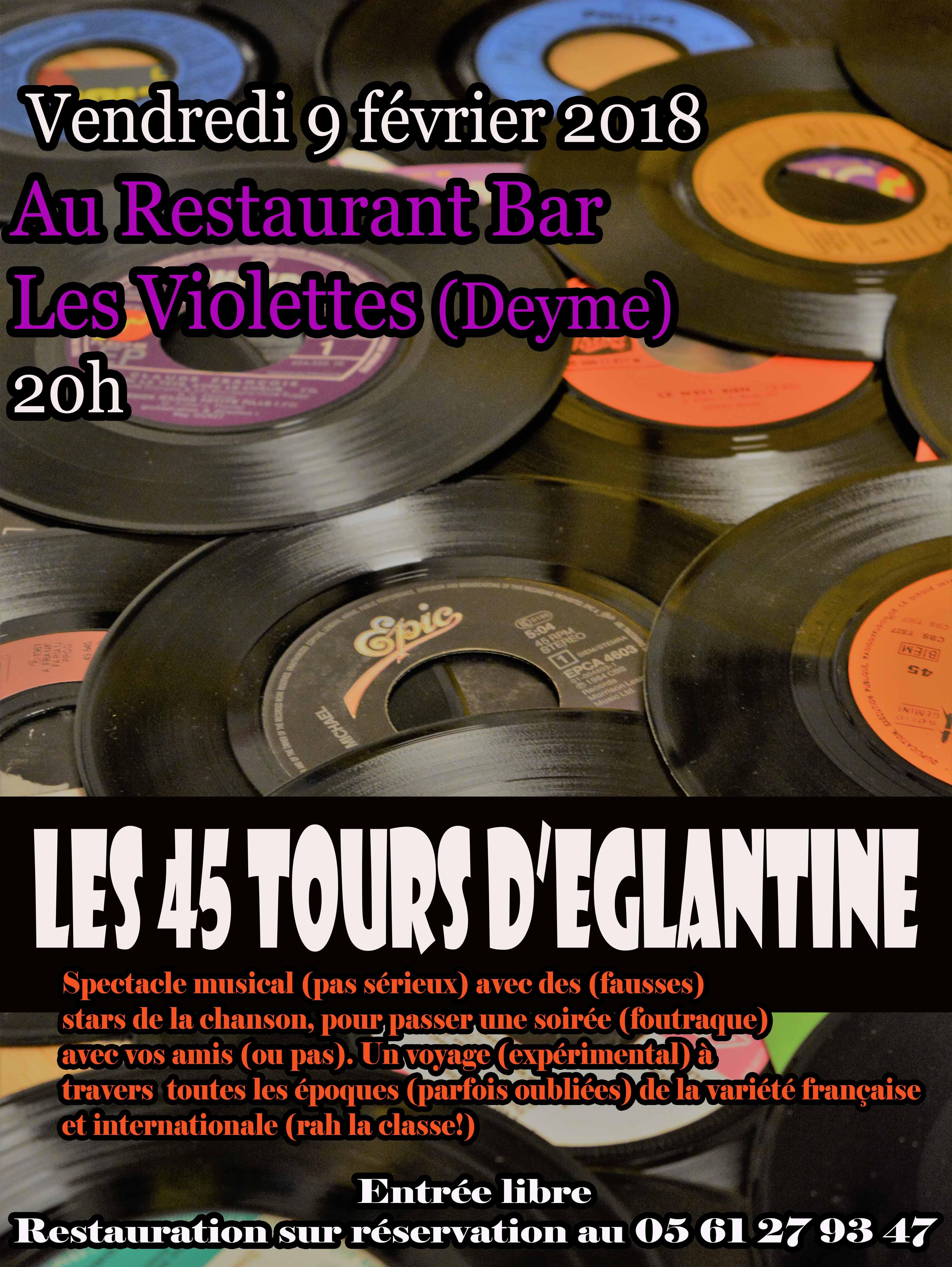 LES 45 TOURS D'ÉGLANTINE