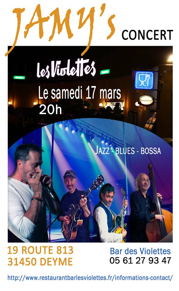 Jamy's en concert  Jazz-Blues-Bossa