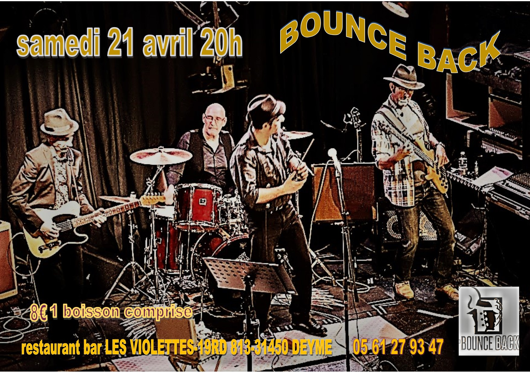 Bounce Back en concert ( Blues, Blues Rock)