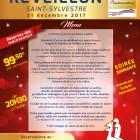 Menu réveillon 2017 St Sylvestre