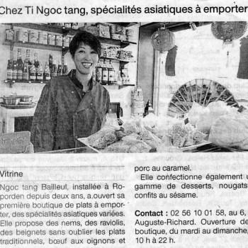 Chez Ti Ngoc Tang, spécialités asiatiques à emporter