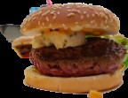 Photo Hamburger 150g au cheddar - Léchalote
