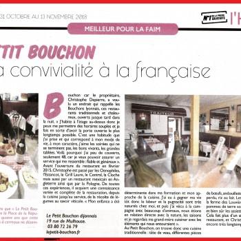 Le Petit Bouchon ou la convivialité à la française