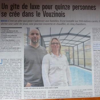 un gîte de luxe pour quinze personnes se crée dans le Vouzinois