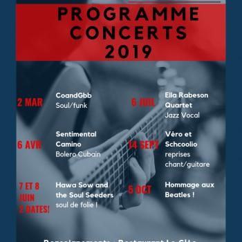 Les concerts du Cléo 2019
