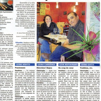 Article Angers à table