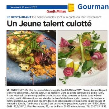 Gault & Millau : un chef culotté - Article paru dans 20 minutes - Lille