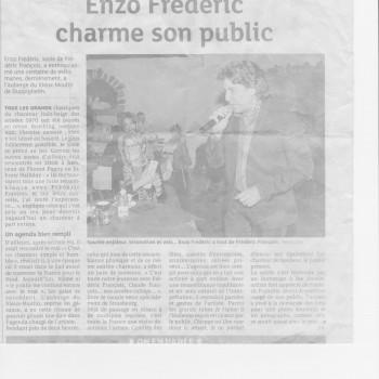 Soirée Frederic François avec ENZO FRANCOIS