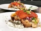 Photo Grosse tranche de chou-fleur rôti, notre cœur de saumon fumé, crème à la fleur de caviar - l'Altévic