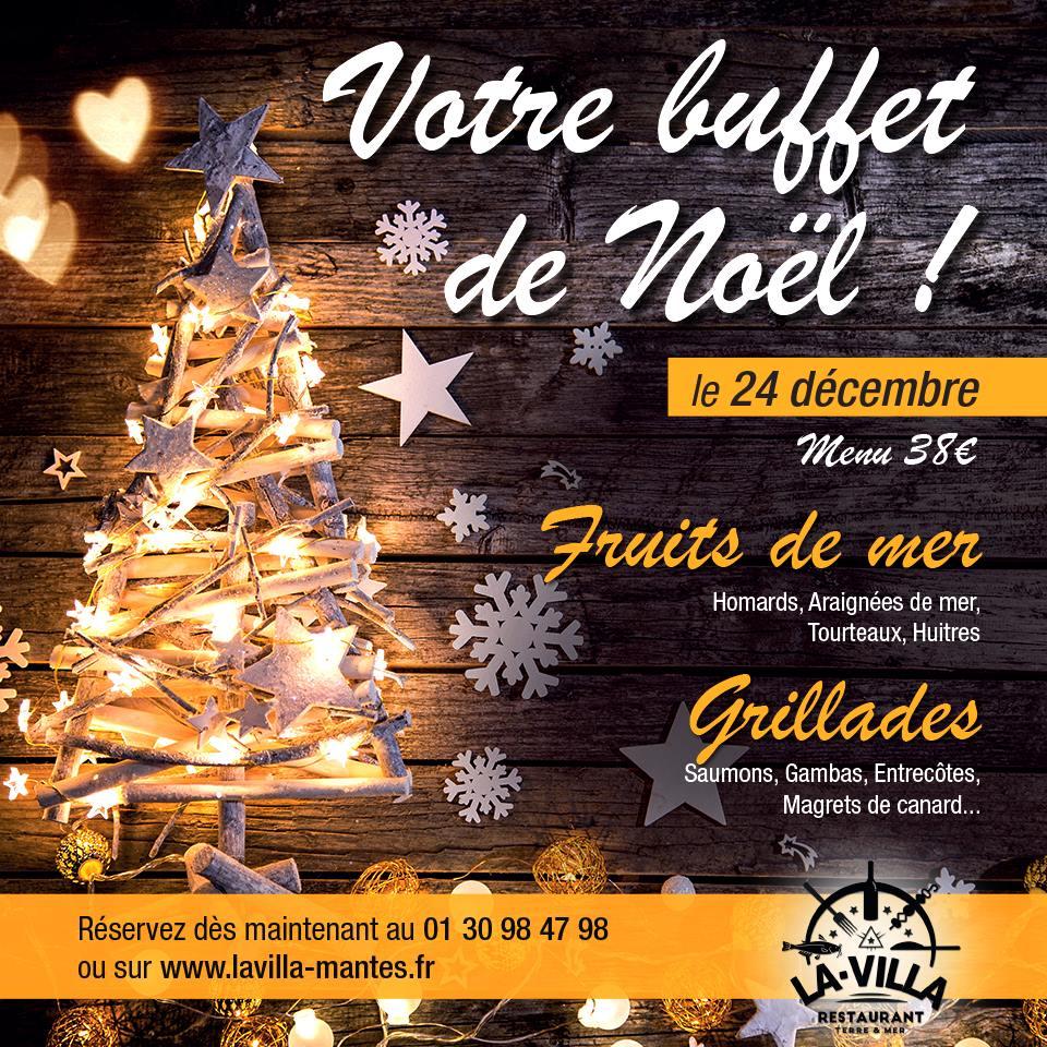 Buffet de Noël le 24 décembre