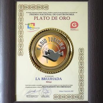 Plato de Oro de gastronomía española / Award / Prix gastronomique