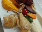 Photo Pigeonneau de la ferme de thierry Barrouillet,  Cuisses en pastilla au foie gras, coffre rôti. - Les bains de secours