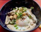 Photo Oeuf Parfait sur crème de champignons, petits croutons - Le Caminito Cabaret