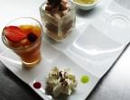 Photo Café gourmand: salade de fruits frais, glace ou sorbet, patisserie, café ou décaféiné, thé ou infusion. - LE BOUCHON