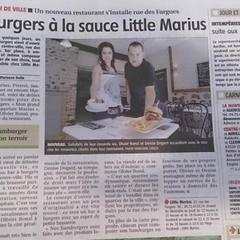 La Montagne fait un article sur Little Marius à Aurillac