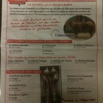 Mise en vente de viandes de boeuf d'exception !