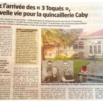 """Avec l'arrivée des """"3 Toqués"""", nouvelle vie pour la quincaillerie Caby."""