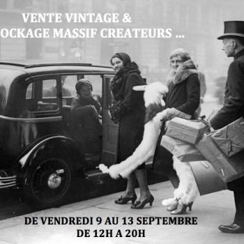 Vente vintage, vide dressing & grand déstockage créateurs