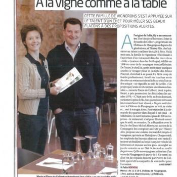 Marie et Pierre de Colbert, A la vigne comme à la table