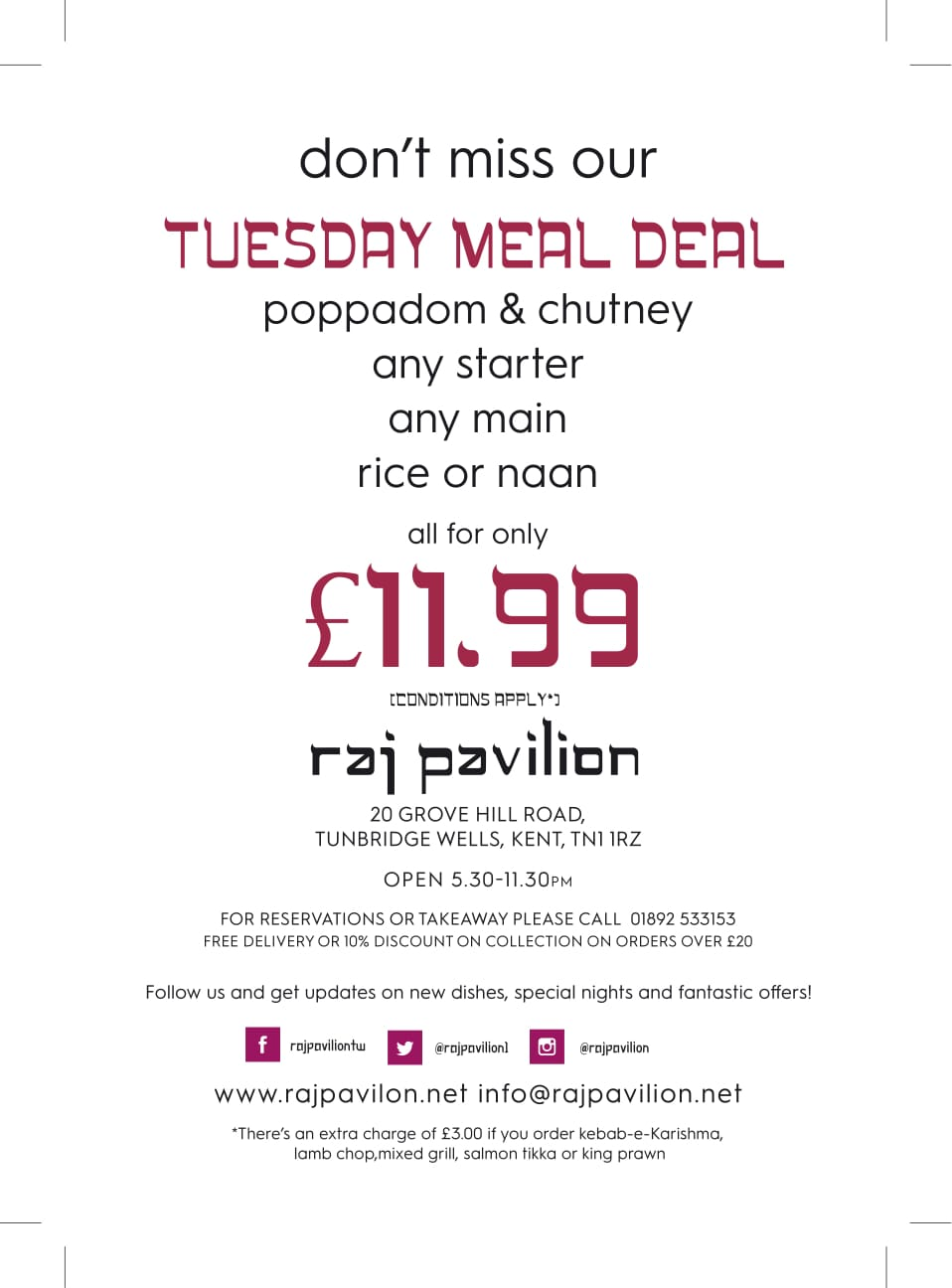 Tuesday All in for £11.99
