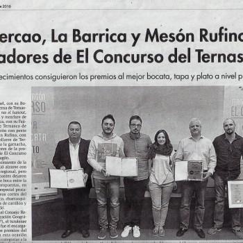 Ganadores del Concurso Ternasco de Aragón 2016