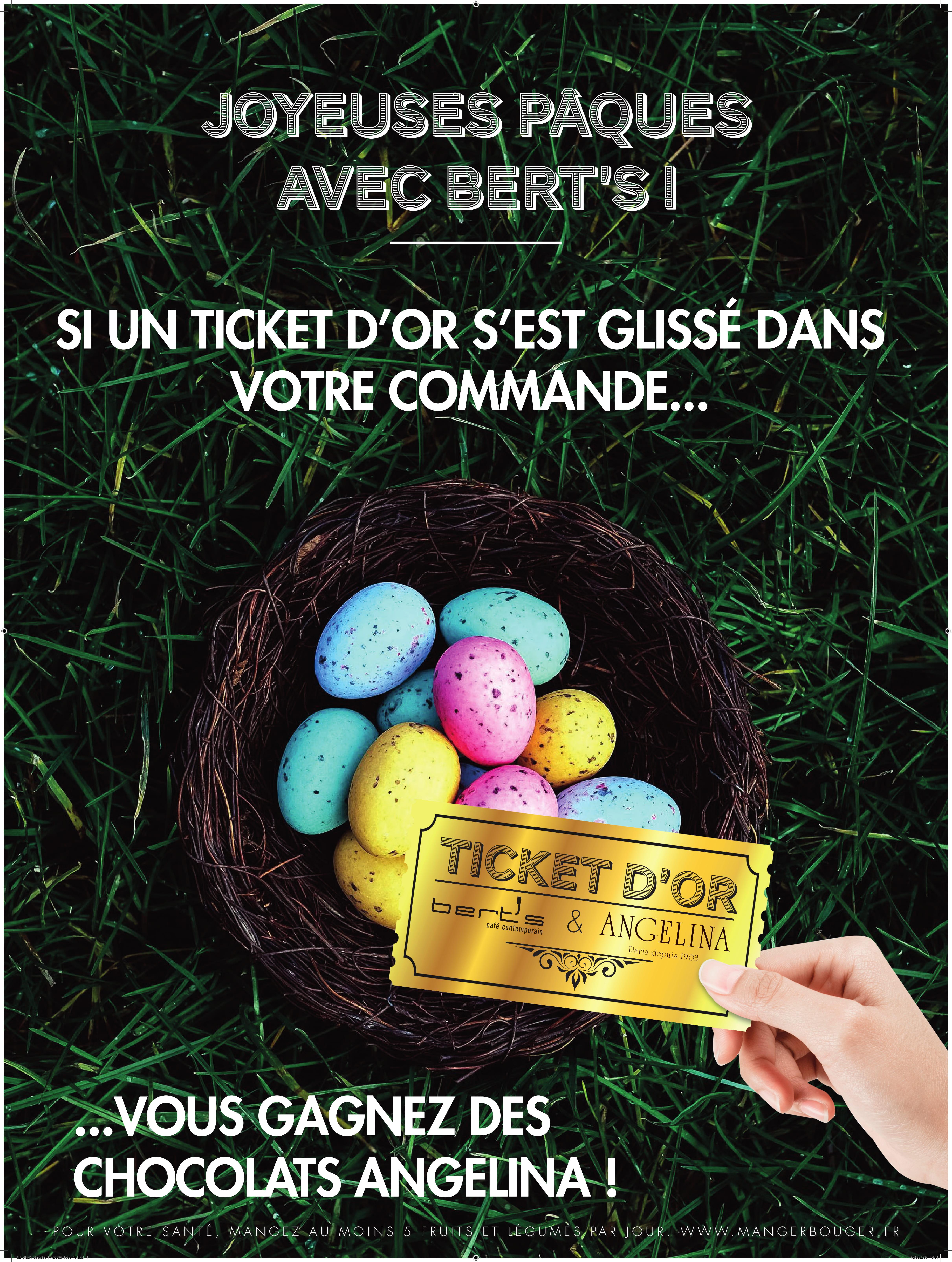 Joyeuses Pâques avec Bert's !