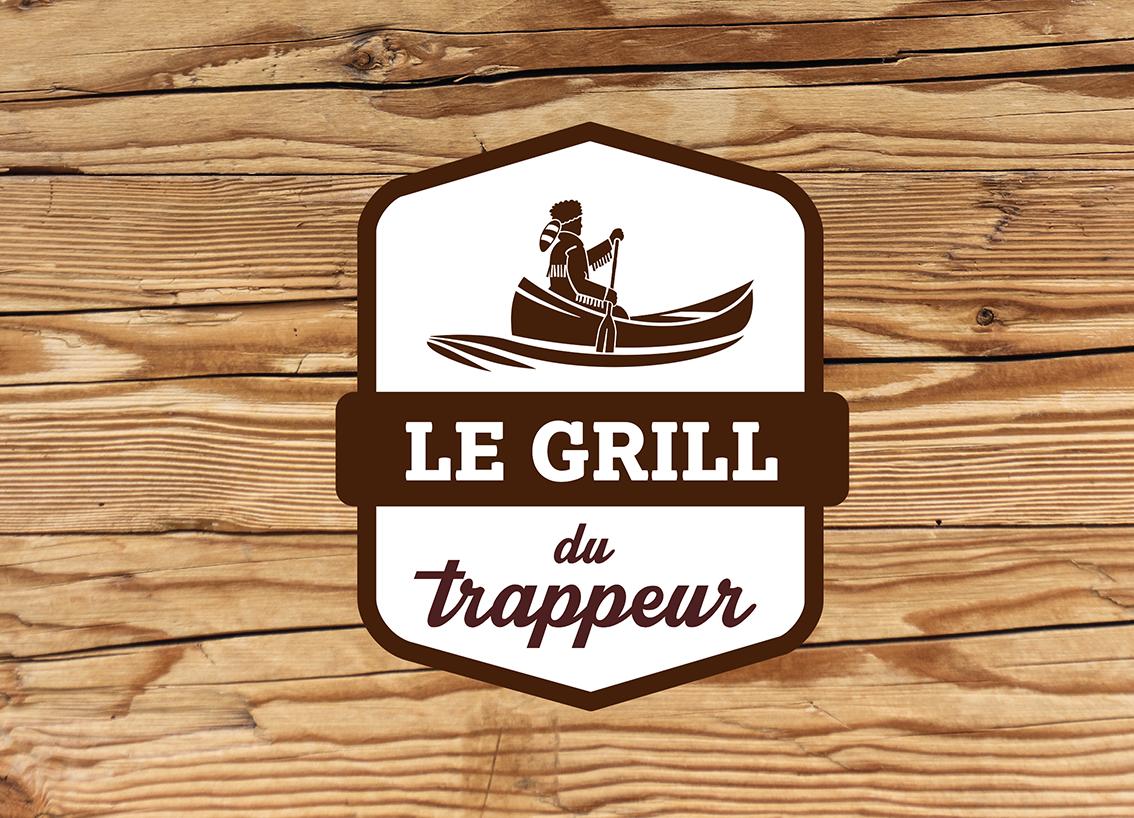 Logo Le grill du trappeur
