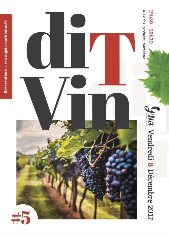 DIT VIN #05 - BULLES - VINS - VINAIGRE