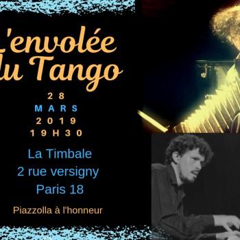 l'envolée du tango - concert jeudi 28 mars