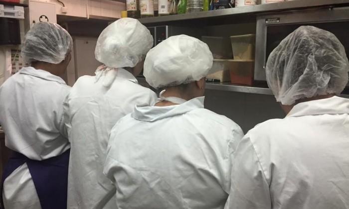 Le personnel de cuisine