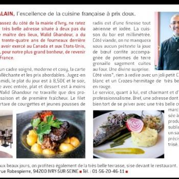 Chez Alain, l'excellence de la cuisine française à prix doux.