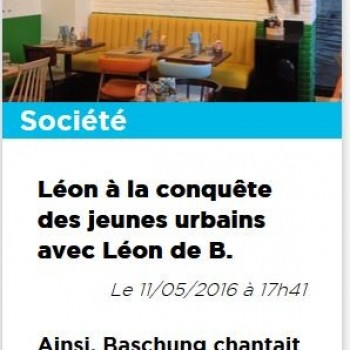 Léon à la conquête des jeunes urbains avec Léon de B.