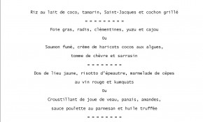 Photo of MENU SAINT VALENTIN 2020