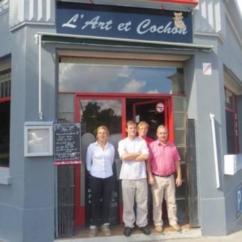 Le restaurant L'art et cochon a ouvert dans le quartier du Faubourg Saint-Léger à Évreux