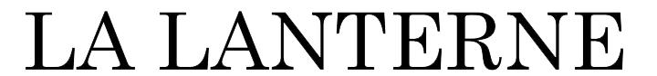 Logo La lanterne