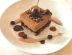 Photo Guimauve chocolat, compotée de cerises crumble de riz soufflé et grué de cacao - LA CLOSERIE