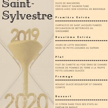 Menu de la Saint Sylvestre