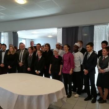 VISITE DE M. LE PREFET AU LYCEE DES METIERS DE L'HOTELLERIE RESTAURATION INNOVANTE le 29 Janvier 2018
