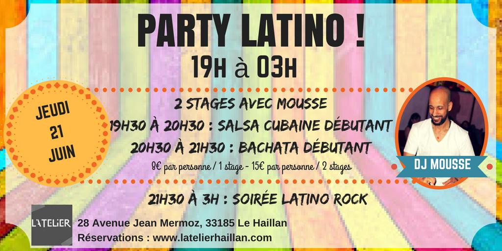 Party Latino Spécile Fête de la Musique avec Mousse & 2 Stages Débutants