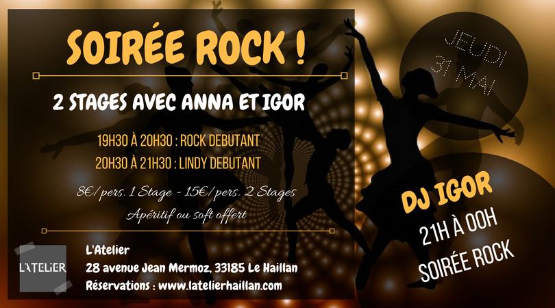 Soirée Rock Swing - 2 Stages Débutants avec Anna et Igor