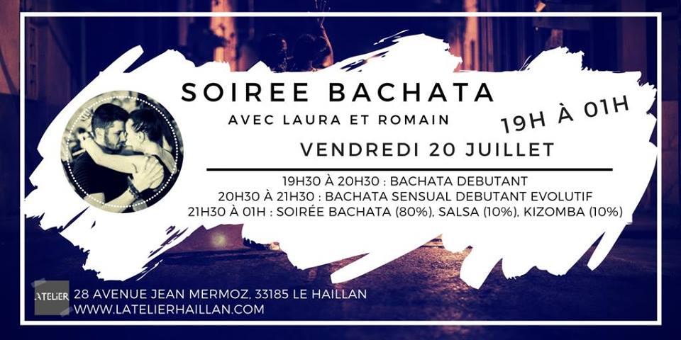 Soirée Bachata avec Laura et Romain - 2 Stages