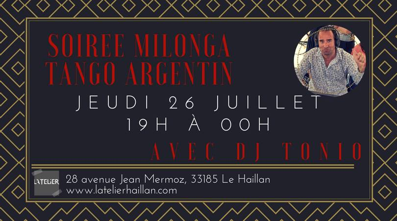Soirée Milonga Tango Argentin avec DJ Tonio