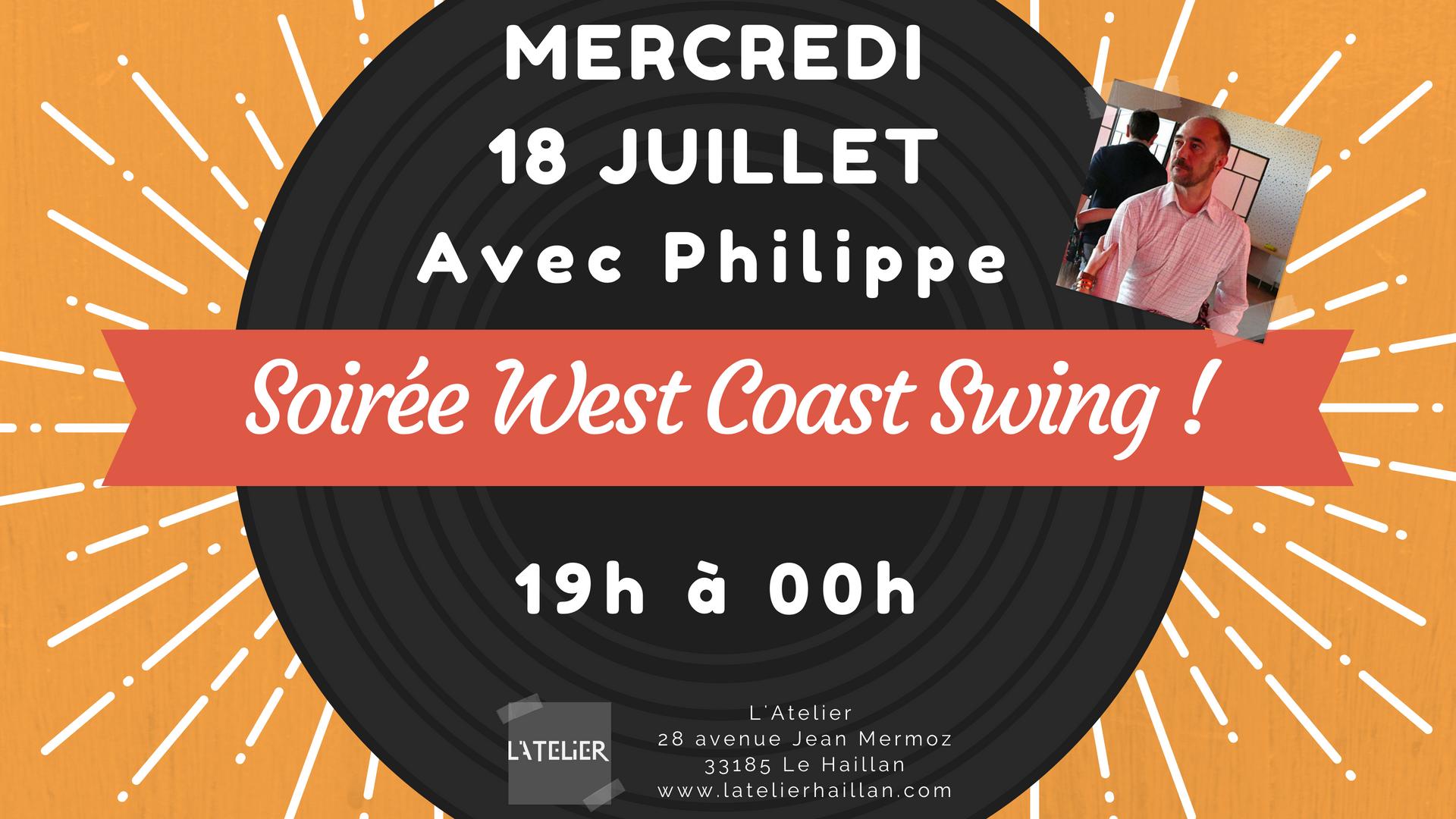 Soirée West Coast Swing avec Philippe